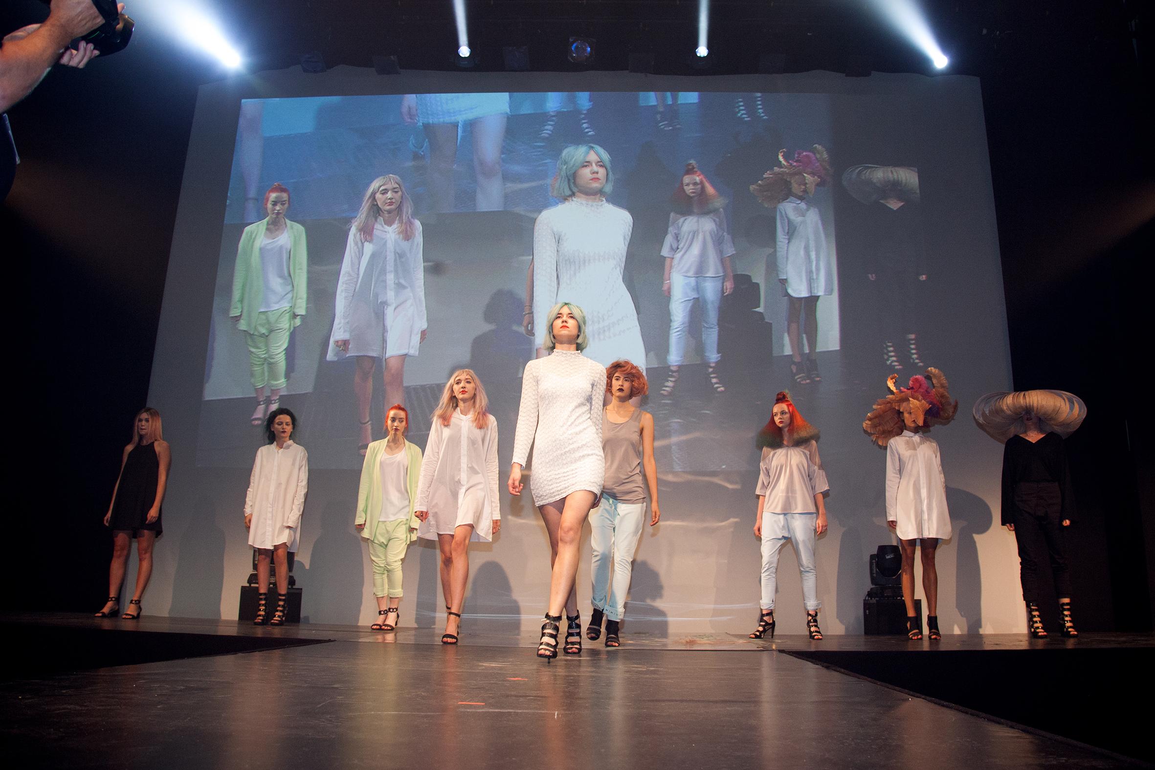 hairdressers in london - models on catwalk
