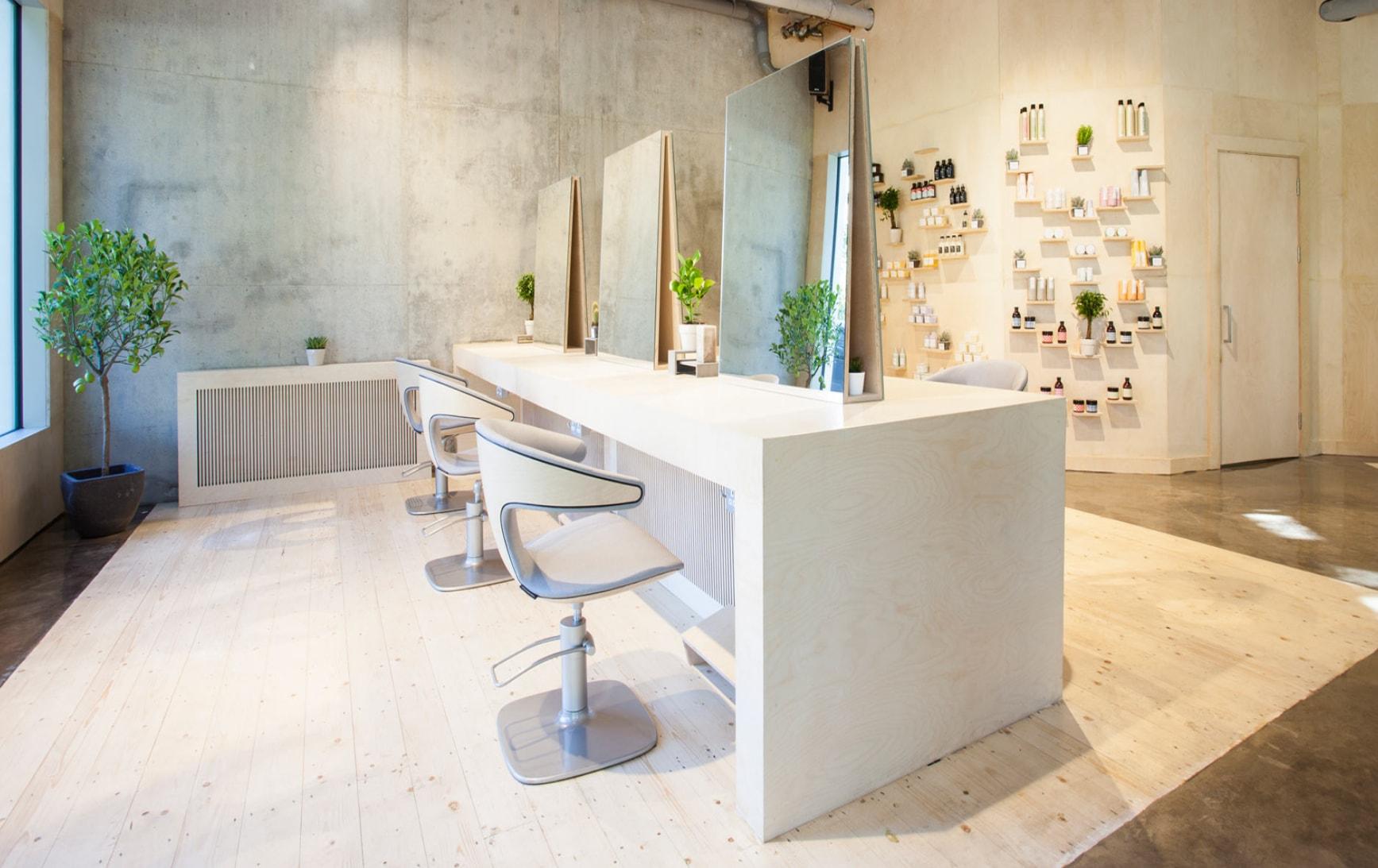 hairdressers in london - salon design