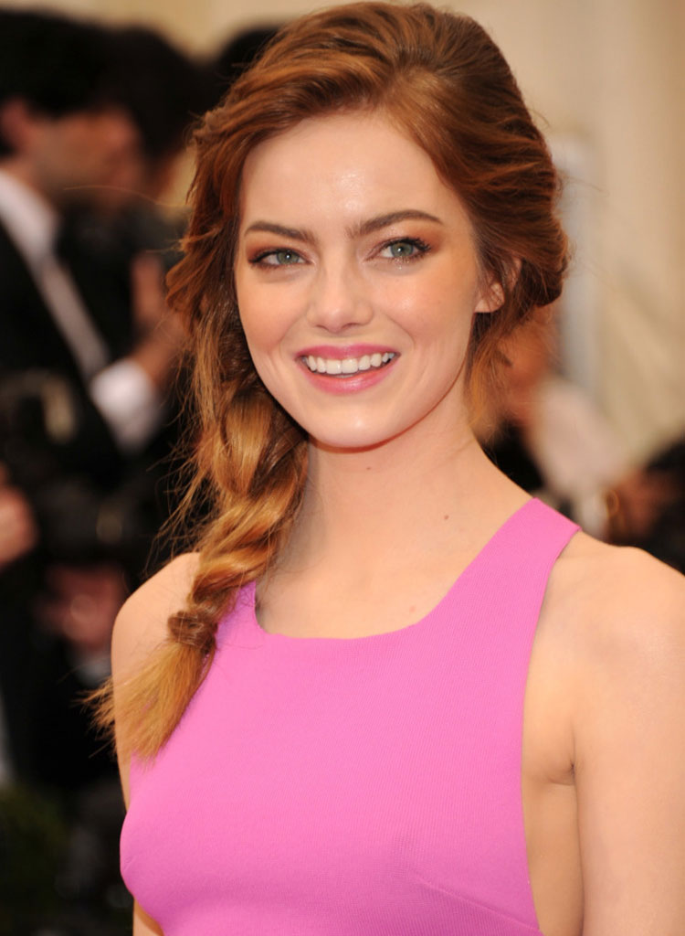 Wedding hairstyles - Emma Stone
