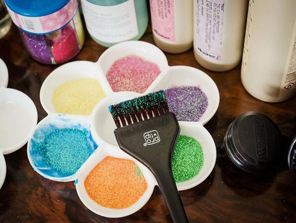 secret garden party - hair glitter