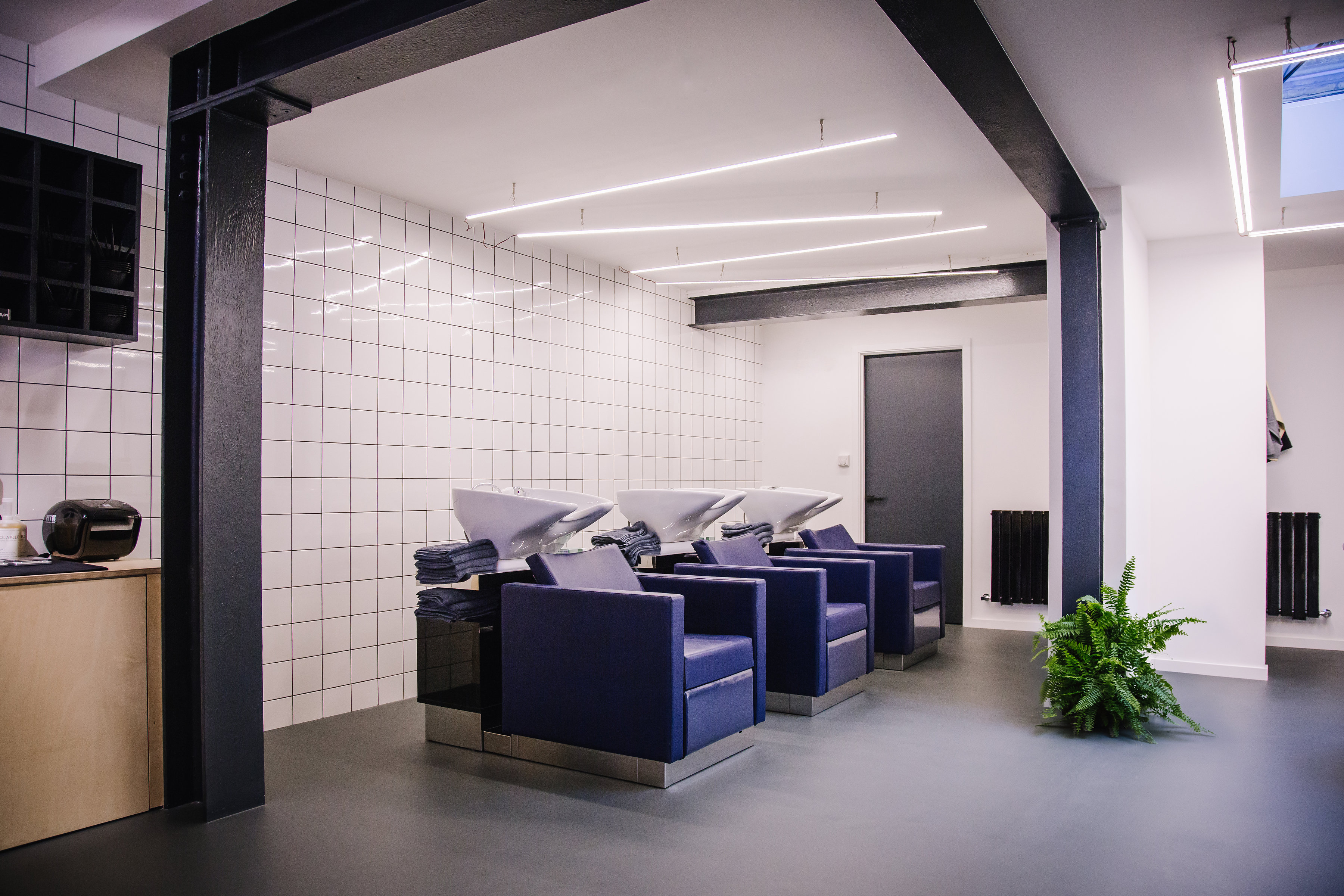 hairdressers in crouch hill interior chairs and basins