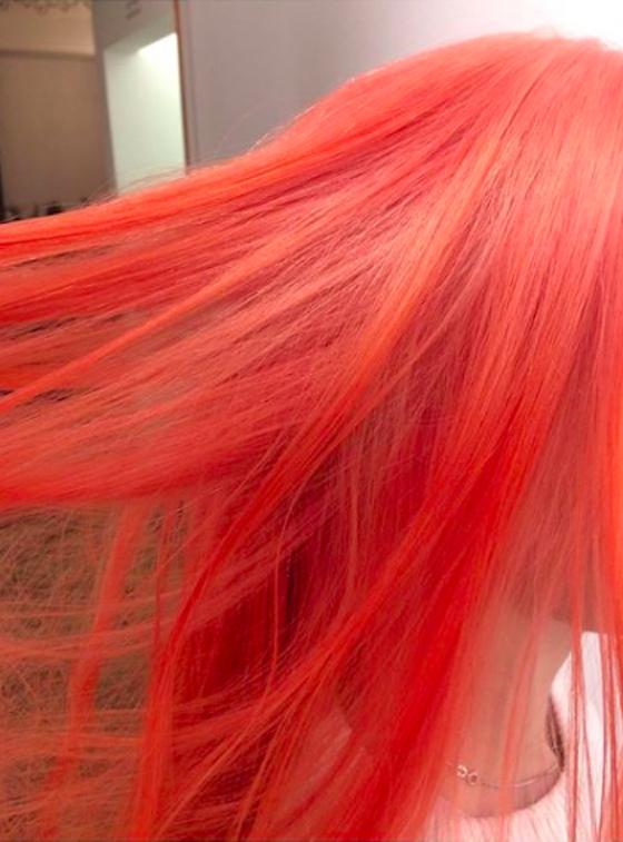 winter hair - pink hair
