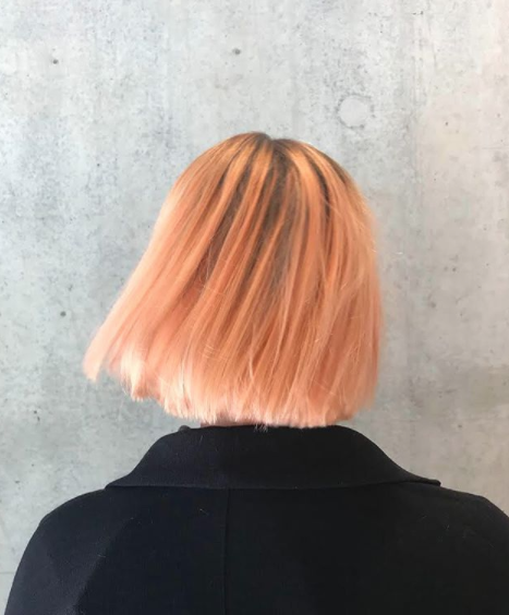 hair resolutions for 2018 - pink hair from the back