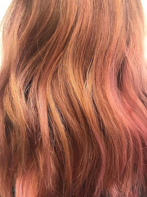 spring hair colours - rose gold