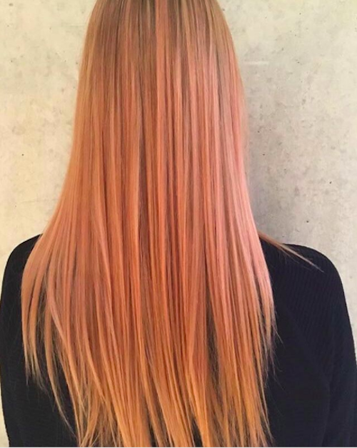 spring hair colours - soft peach