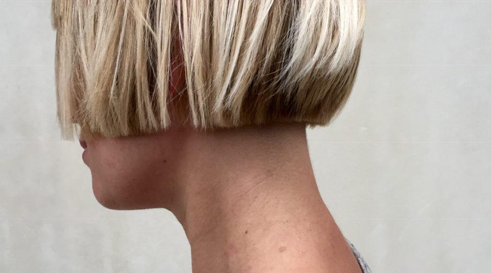 Blue Tit London Blonde bob haircut