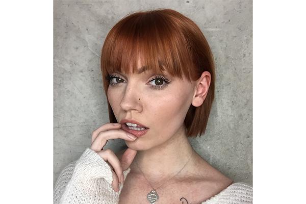 Fringe hairstyle Blue Tit London